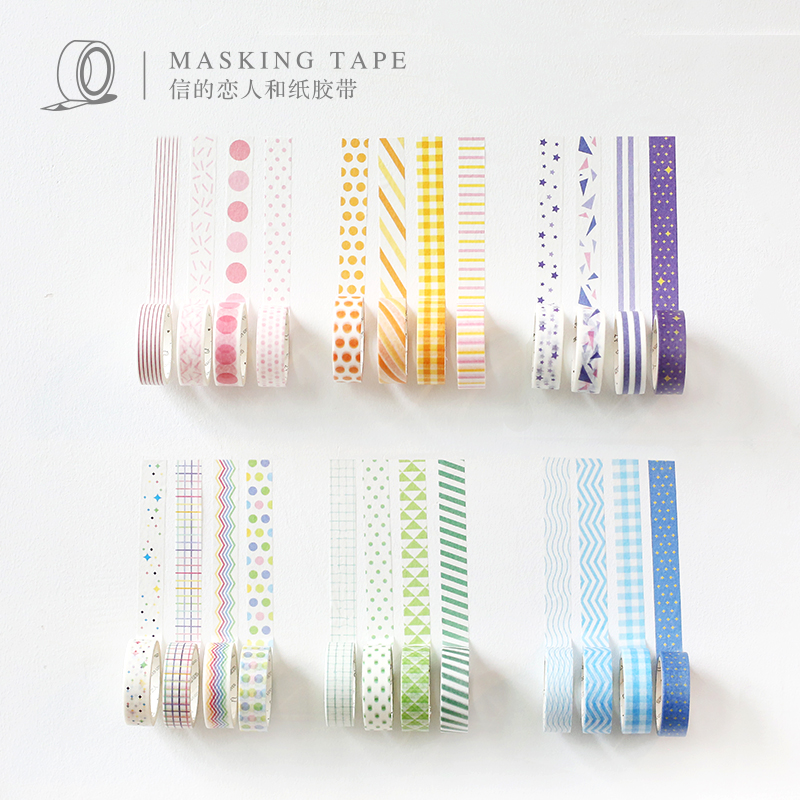 24PCS/LOT Letter of lovers base series sticker DIY sticker paper decorative tape masking tape washi tape