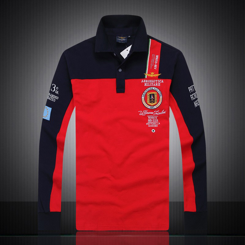 Aliexpress.com  Comprar Nuevos modelos aeronáutica militara camisa  masculina polo hombre manga larga Polo marcas Air force one shark solid  polo Z de sleeve ... d1022a0c790d0