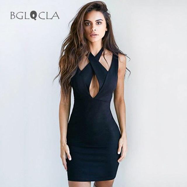 Black Halter Dresses Women