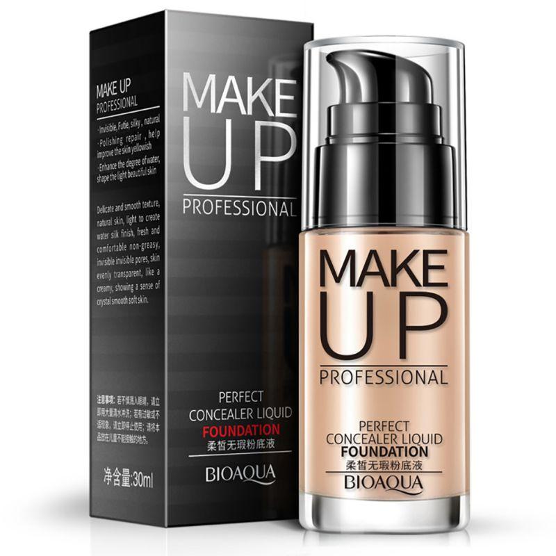 Rosto Base Líquida Fundação BB Cream Concealer Whitening Hidratante Oil-controle Maquiagem Base de Maquiagem