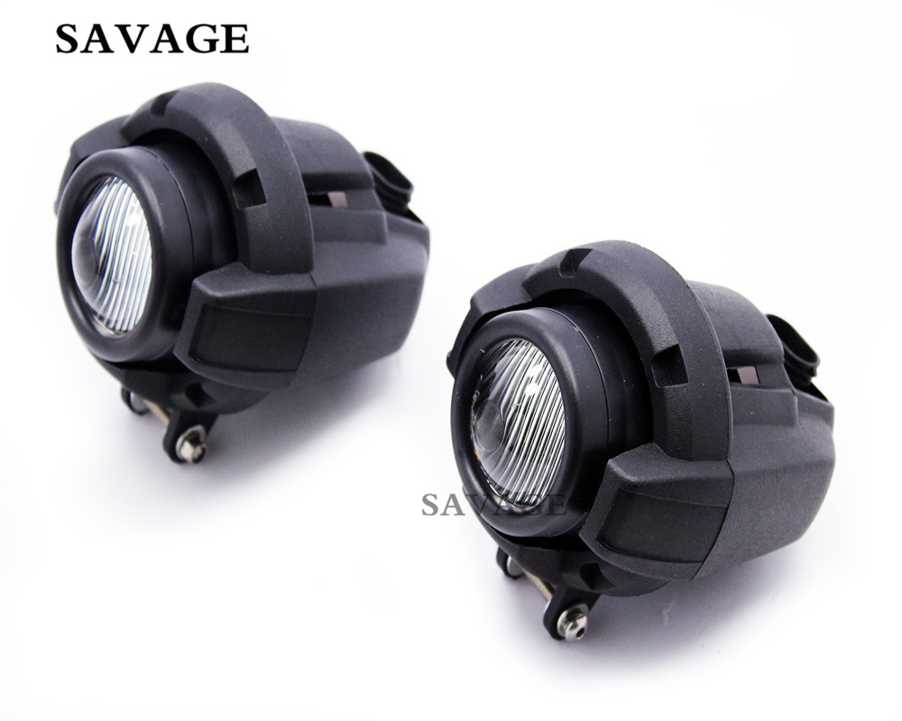 Motorcycle Front Driving Aux Lights Fog Lamp Assembly For BMW K 1600 R 1200GS ADV R1200GS Black Fog Light