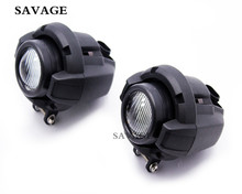 Motorcycle Front Driving Aux Lights Fog Lamp Assembly For BMW K 1600 R 1200GS ADV R1200GS Black Light