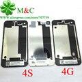 20 шт. Задняя 4 Г 4S Назад Крышка Батарейного Отсека Корпус для iPhone 4 4 Г 4S Крышка Батарейного Отсека Задняя Дверь С Логотипом для Отслеживания номер
