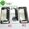 20pcs Rear 4G 4S Back Battery Cover Housing for iPhone 4 4G 4S Battery Cover Back Door With Logo Tracking Number