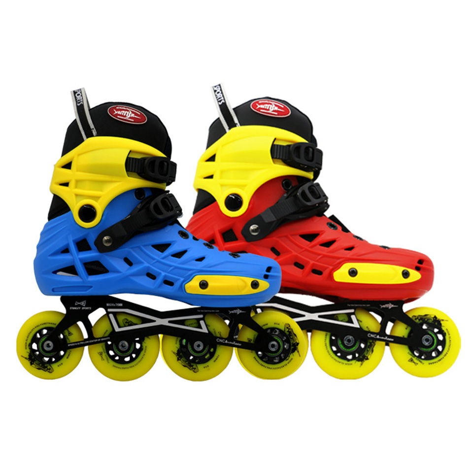 Japy Advanced Children Roller Skates Adjustable Shoes 2*72mm 2*76mm Mini tank Changeable Slalom Speed Patines Free Skating F044 children roller skating shoes s m l roller skate shoes adjustable road sliding slalom inline skates shoes