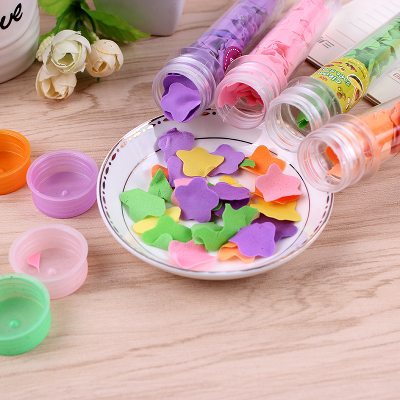 5pcs tube mounted rose flower foaming paper soap travel portable washing hand bath soap flakes bathroom accessories