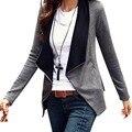 Женская мода Молнии Тонкий Пальто Повседневная С Длинным Рукавом Куртки И Пиджаки Пальто jawbreaker Плюс Размер