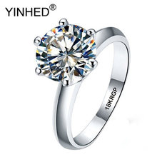 Кольцо yinhed dr168 женское с фианитом обручальное ювелирное