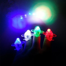 LED Finger Rings Lights Glowing Dazzle Flashing Airplane Finger Light Emitting Lamps Birthday Glow Party Supplies  Christmas