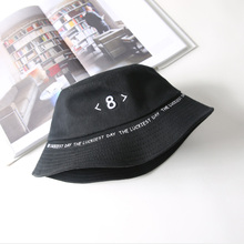 Cute Casual Embroidery Eight 8 Bucket Hat Women K Pop Outdoor Sports Hip Hop Caps Summer Sun Panama Man Soft fishing hat