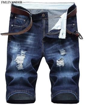 Plus Size 40 Summer Ripped Denim Knee Length Men Jeans Straight Pantalones Rotos Jeans Hombre Jeans Men Buy At The Price Of 12 20 In Aliexpress Com Imall Com