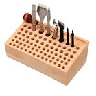 76-Hole Hand Sewing DIY Beech Tool Stand Wooden Multiple Holes Tool Storage Shelf Wooden Tool Table