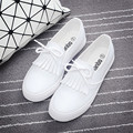 Black and white shoes woman slip-on female student flat canvas shoes lazy loafer breathable zapatos mujer