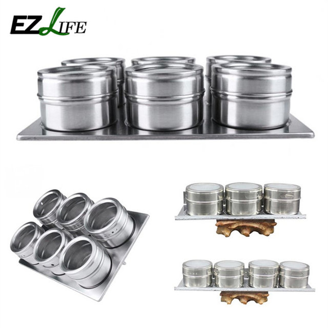 EZLIFE Cheap 3/4/6pcs/Set Stainless Steel Salt And Pepper Shakers Set