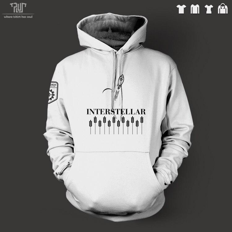 Interstellare originale disegno resistenza logo uomini unisex pullover con cappuccio sweatershirt 82% cotone interno in pile spedizione gratuita