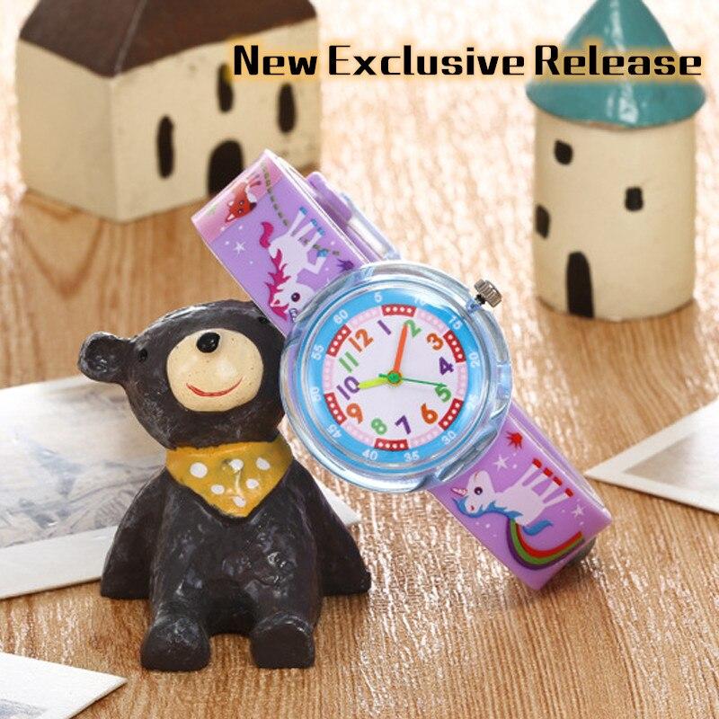 New Exclusive Release Children Watch Cartoon Animal Dinosaur Frog Lion Jelly Silicone Child Watch Student Boy Girl Kids Watches