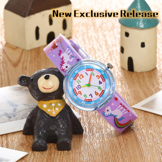 New Exclusive Release Children Watch Cartoon animal Dinosaur frog lion jelly sil