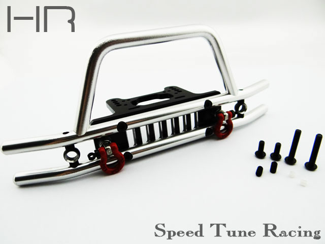 ФОТО Hot racing Aluminum tubhlar front bumper with winch light mount for Axial SCX10