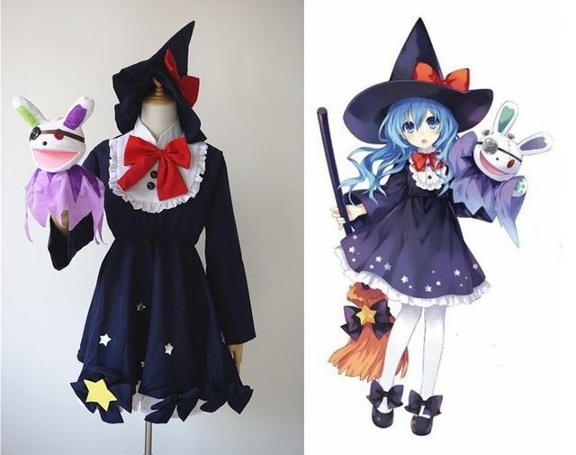 Data Di Halloween.Us 42 99 14 Di Sconto Anime Data Un Live Yoshino Cosplay Strega Vestito Giocattolo Della Peluche Costumi Di Halloween Per Le Donne S