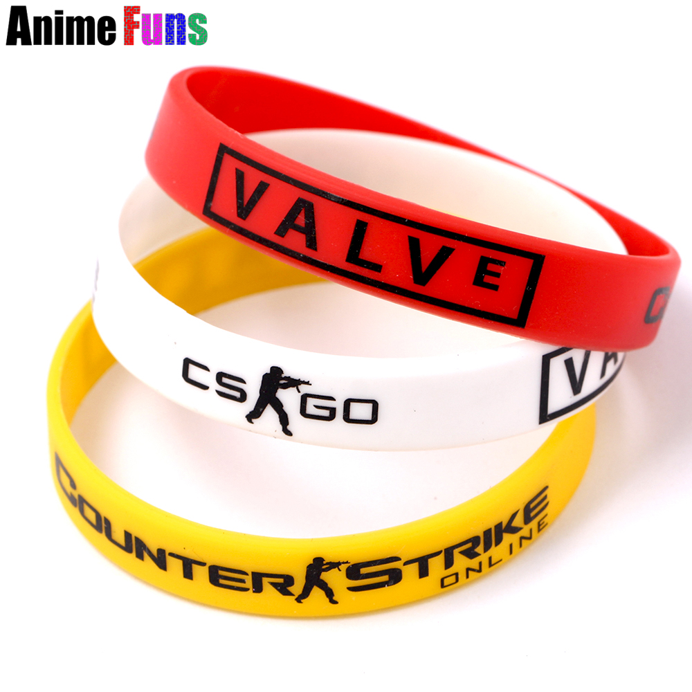 Game CS GO Silicone Rubber Diabete Bracelet CSGO Counter Strike Red Yellow White Cross Fire Braslet for women man drop-shipping