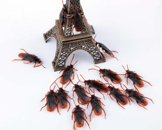 Rubber Cockroach Boys Toys Lifelike Simulation Fake Insects Kids Children Prank Gag Toys Wholesale YH585
