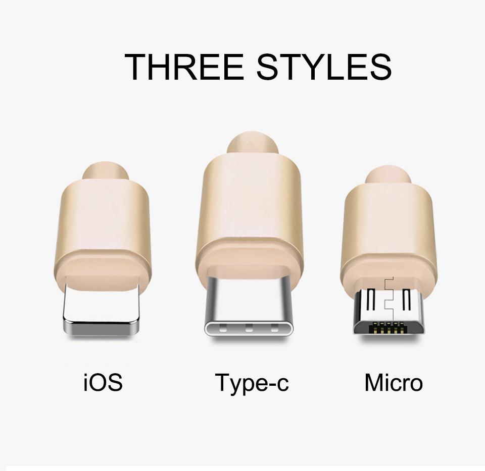 1m 1.5m 2m 5V2A Nylon Data Cable Fast Micro USB Charging For Data Transmission Cables Android Type-c iOS System For Mobile Phone (2)