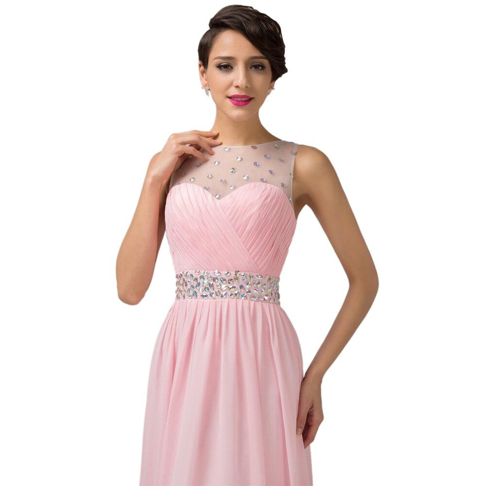 Princess Pink /Lilac Long Prom Dresses Grace Karin Chiffon Padded ...