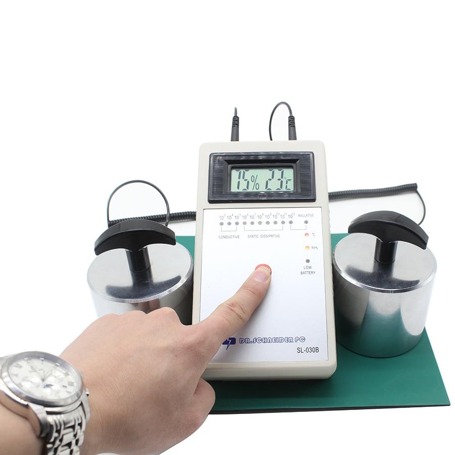 FEITA SL-030B Apparecchiature di Prova Misuratore di Campo Elettrostatico Statica Superficie Tester di Resistenza con Martelli