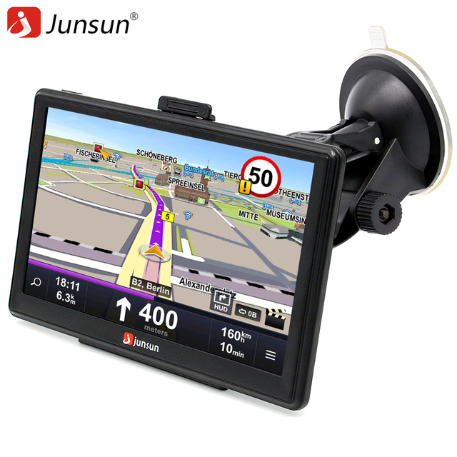 Junsun 7 inch Car GPS Navigation Capacitive screen Bluetooth AV-In FM Built in 8GB/256M WinCE 6.0 Map For Europe Truck vehicle