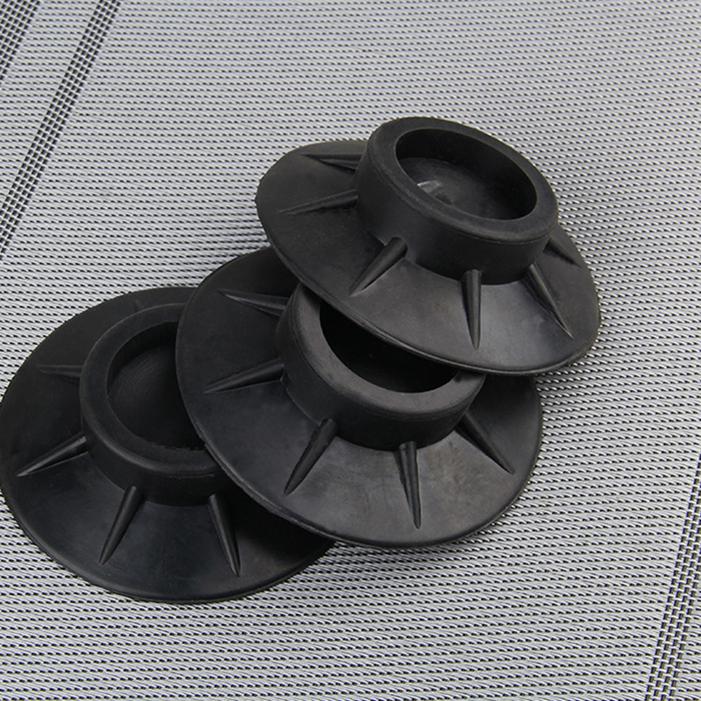 4Pcs Black Mat Accessories Universal Feet Pads Anti Vibration Rubber Furniture Protectors Washing Machine Non Slip Floor4Pcs Black Mat Accessories Universal Feet Pads Anti Vibration Rubber Furniture Protectors Washing Machine Non Slip Floor