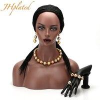 Etiyopya Takı Seti Moda Afrika Boncuklu Set Eritre/Nijeryalı/Arap/Habesha Altın Beyaz Renk topu Kadın Hediye