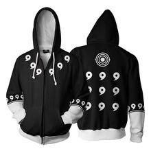 Naruto Print 3D Zip Up Hoodie