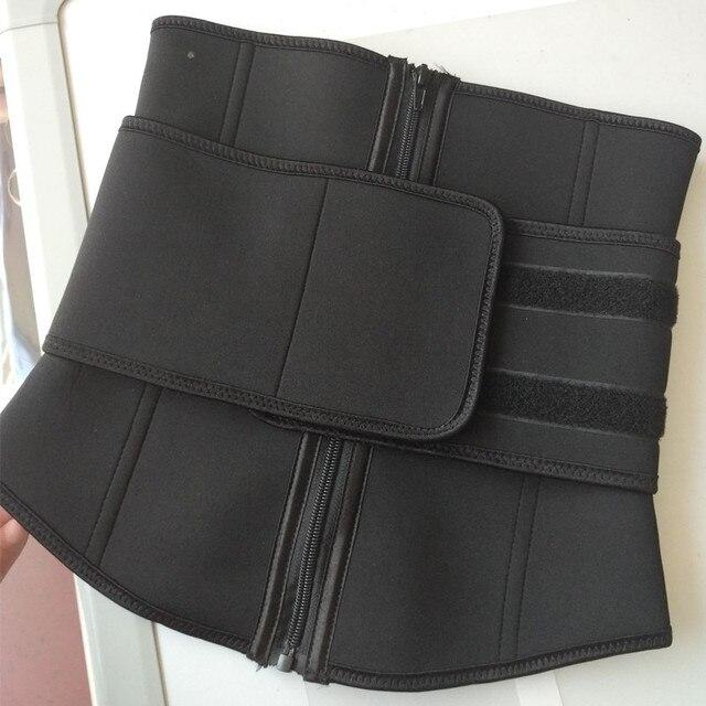 Plus Size Abdominal Belt High Compression Zipper Neoprene Waist Cincher Corset Underbust Body Fajas Sweat Waist Trainer 5