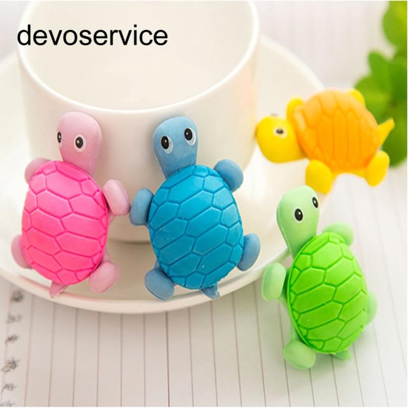Creative 1 Piee Stationery Cartoon Turtle Style Eraser Mini Rubber Primary School Student Gift School Office Supplies