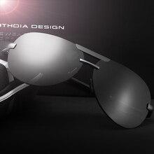 Veithdia hombres de la marca de gafas de sol polarizadas lente de espejo de aluminio magnesio conducción gafas accesorios gafas de sol para los hombres 6500