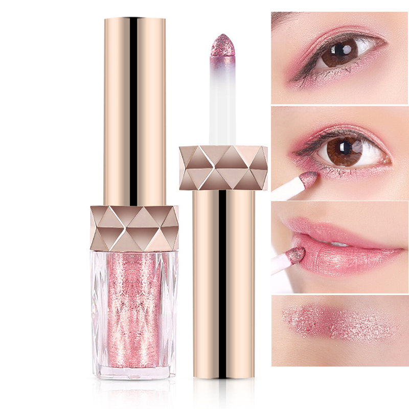 5 In 1 Multifunctional Glitter Eyeshadow Lipstick Powder For Peach Makeup Shimmer Long Lasting -4420