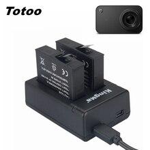 Аккумулятор Mijia для маленькой камеры, 2 шт., с двойным зарядным устройством