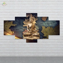 5 Pieces/set Baseball Wall Art Paintings Picture Print on Canvas for Home Decoration