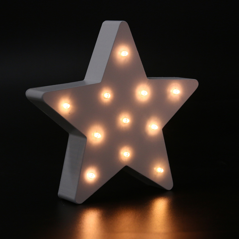 11 LED Star Night light Party Table Lamp LED Home Holiday Decor Wood Lights Gift Bedroom Bedside Lamp Battery AAA mipow btl300 creative led light bluetooth aromatherapy flameless candle voice control lamp holiday party decoration gift