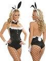 Lencería erótica sexy cosplay disfraces de halloween mujeres duermen ropa girl next door bunny vestuario body set lc8555