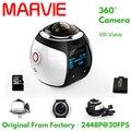 MARVIE 4 K 360 Graus Ação Video Camera Wifi Mini 2448*2448 VR Panorama Câmera 16MP Ultra HD 3D À Prova D' Água Esporte de Condução câmera