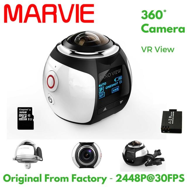 Marvie 4 К 360 градусов Действие Видео Камера Wi-Fi мини 2448*2448 16mp Ultra HD панорама Камера 3D Водонепроницаемый sport Driving VR Камера