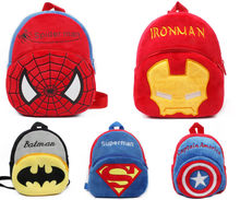 Batman Plush Backpack Baby Toy Spiderman School Bag Kids Outdoor Travel Pack Student Kindergarten soft Superman backpack DS29(China)