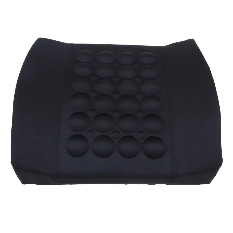 VODOOL Universal masaje eléctrico coche respaldo cintura apoyo Lumbar almohada cintura seguridad silla cojín de alta calidad