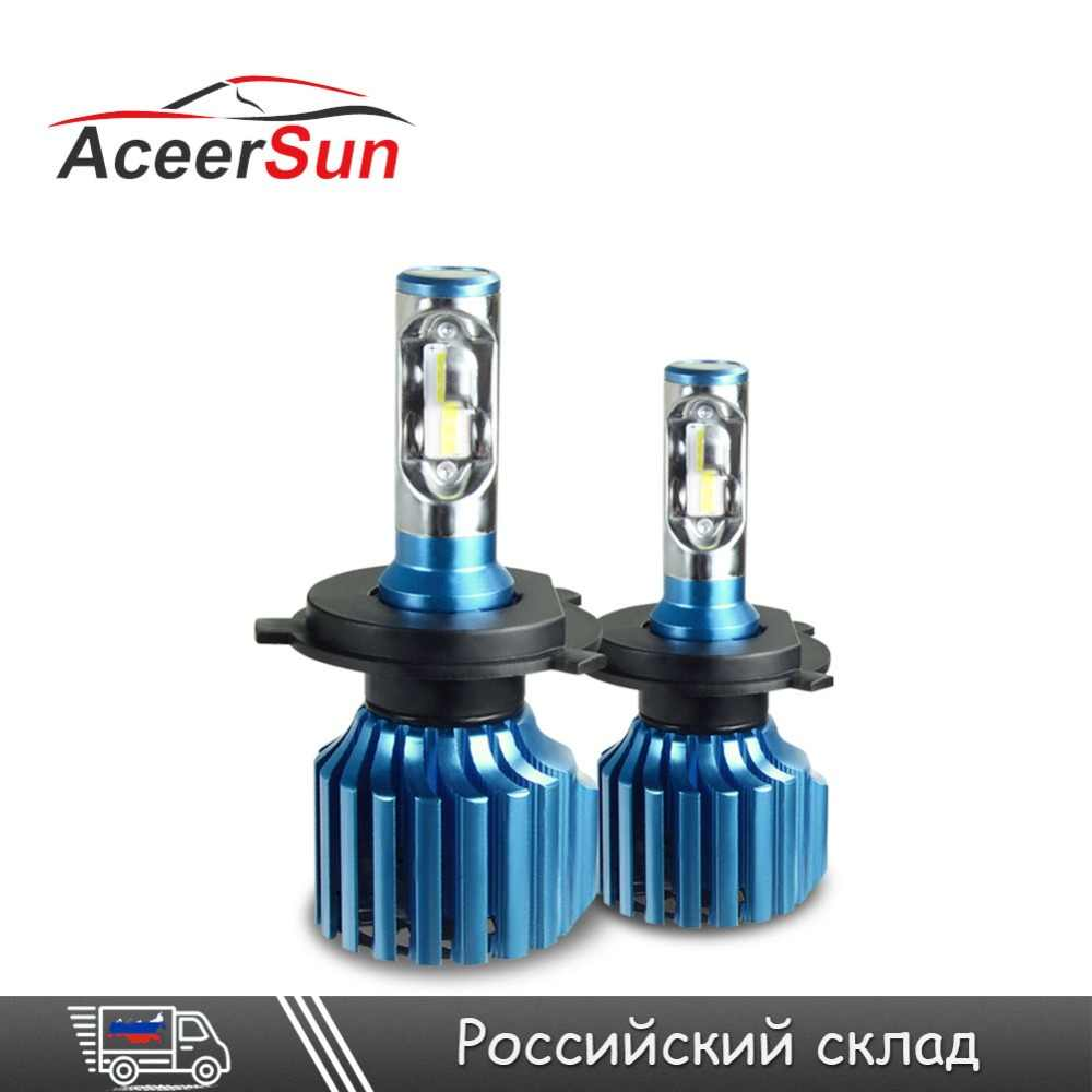 Aceersu H7 H4 LED H11 H1 H3 9005 9006 LED Car Headlight Bulbs Auto Lamp mini CSP Chip 12000LM 6500K 24 V 12V Fog Lights Headlamp