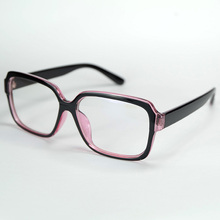 Pure Rectangle Big Frame Lovely And Cute Geek Eyewear Of Decorative Accessories