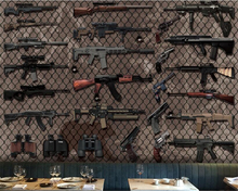 beibehang papel de parede 3d mural Custom Fashion Photo Mural Various Weapon Guns Wallpaper Wall Design wallpaper for walls 3 d beibehang papel de parede 3d gold foil wallpaper for walls 3d ktv restaurant classical chinese decoration wall paper papel mural