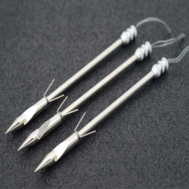 5pcs/10pcs Projectile Fish Dart  Hunting Shooting Catapult Dart  Fishing Gear Stainless Steel Arrowhead slingshot accessories model aircraft