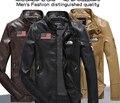 Las nuevas yardas grandes para hombre abrigo de cuero de piel de australia safari piel de una hombres de chaquetas de cuero con gruesos solapas del abrigo de pieles en venta