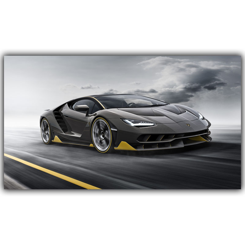 sports car poster custom home decoration fashion silk canvas fabric wall poster car design wallpaper yl089